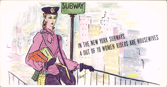 Mini Subway Car Card <br>No. 02 - Housewives