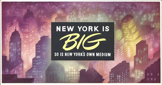 Mini Subway Car Card <br>No. 04 - New York is Big