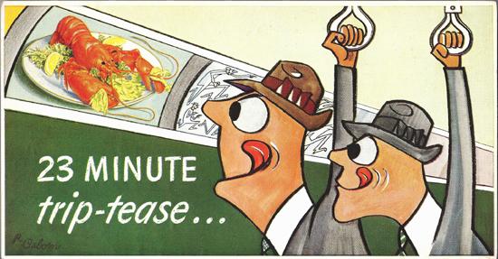 Mini Subway Car Card <br>No. 11 - 23 Minute Trip-tease