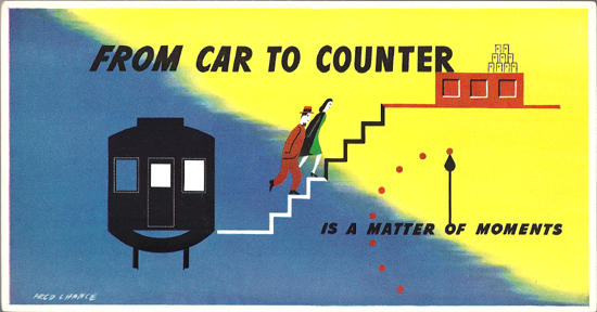 Mini Subway Car Card <br>No. 12 - From Car to Counter