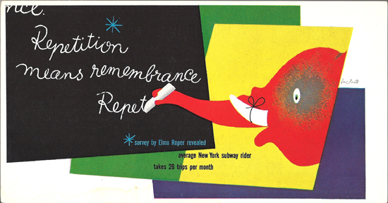 Mini Subway Car Card <br>No. 14 - Repitition Means Remembrance