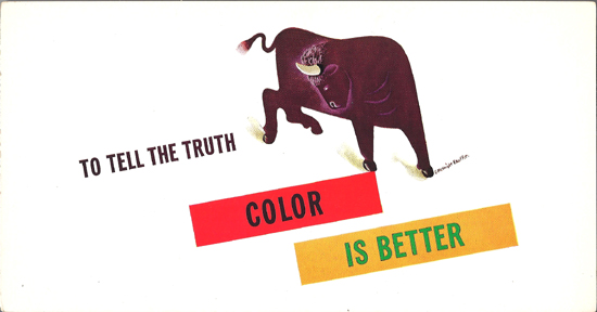 Mini Subway Car Card <br>No. 17 - To Tell the Truth Color is Better