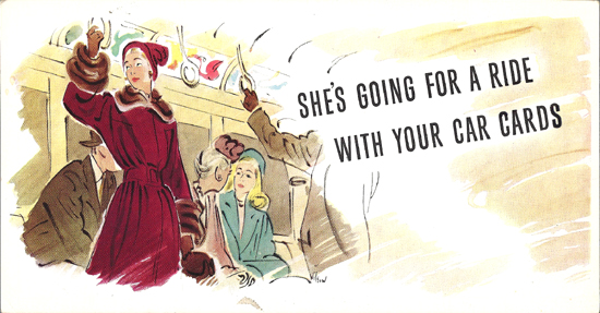 Mini Subway Car Card <br>No. 19 - She's Going For A Ride...