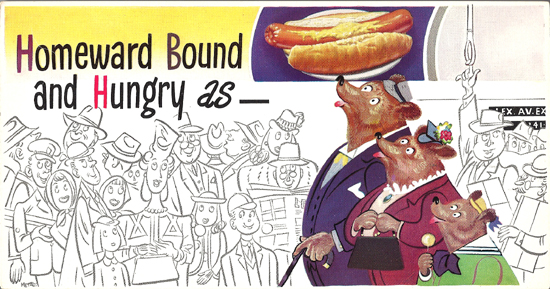 Mini Subway Car Card <br>No. 20 - Homeward Bound and Hungry As...