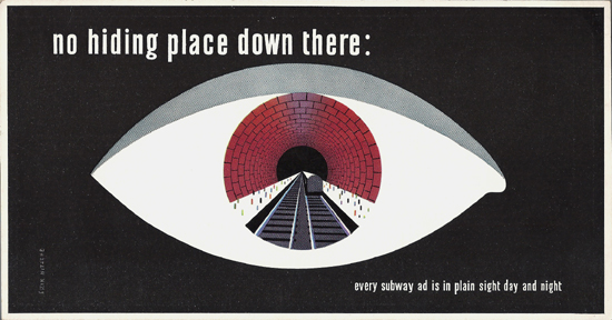 Mini Subway Car Card <br>No. 21 - No Hiding Place Down There