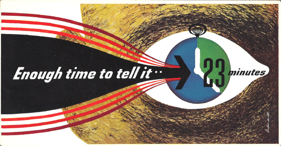 Mini Subway Car Card <br>No. 24 - Enough Time To Tell It... 23 Minutes
