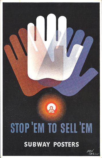 Mini Subway Poster Card <br> Stop 'Em to Sell 'Em