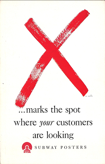 Mini Subway Poster Card <br> X Marks the Spot