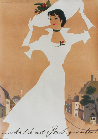 Persil (White Dress/Tan Background)
