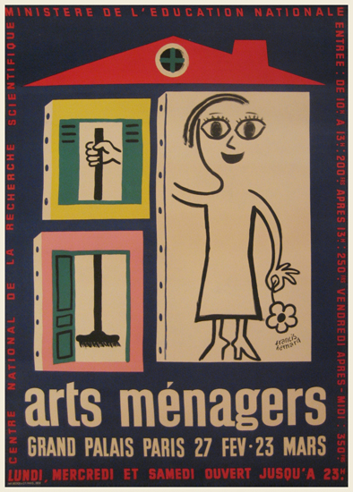 Arts Menagers (Blue Background/House) 47x63
