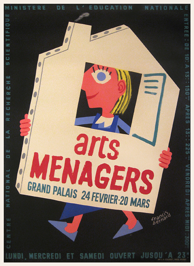 Arts Menagers (Black Background/House) 47x63