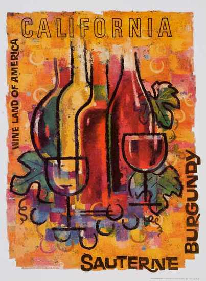 California Wines - Burgundy - Sauterne