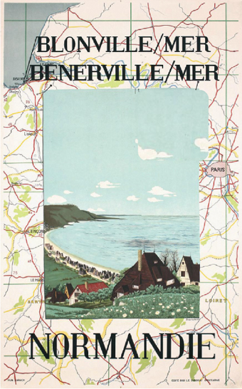Normandie Blonville Mer Map