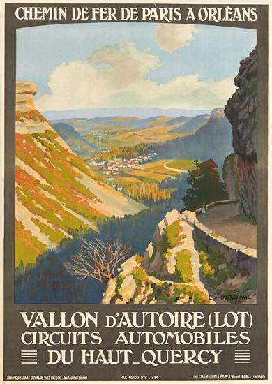 Chemin de Fer De Paris a Orleans Vallon Lot Haut Quercy