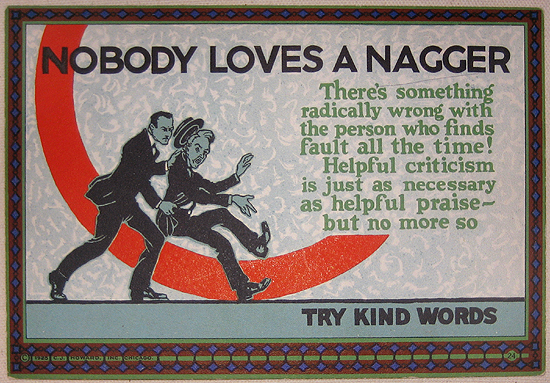 Mather Series: Nobody Loves a Nagger