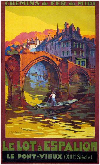 Chemin de Fer du Midi Le Lot a Espalion Le Ponte Vieux