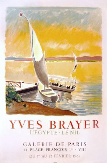Galerie de Paris Yves Brayer <br> L'Eygpte Le Nil