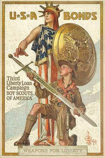 US Bonds Third Liberty Loan Boyscouts of America