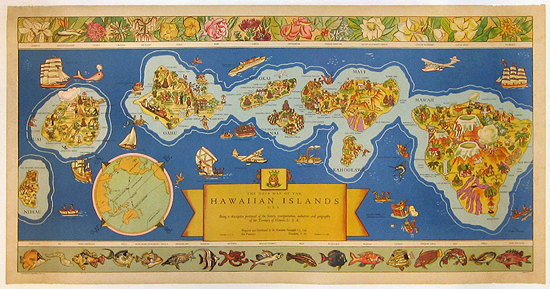 Hawaiian Islands (Dole Map)