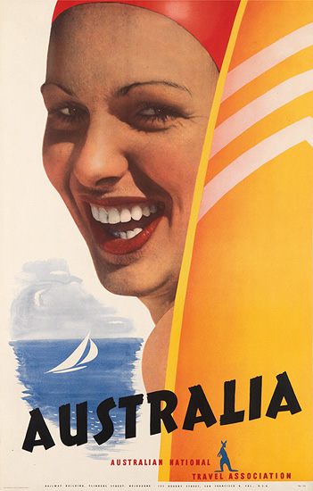Australia (Woman with Surfboard)