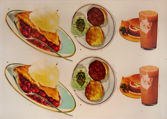 American Die Cut- Hamburgers and Pie