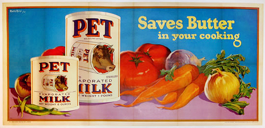 Pet Evaporated Milk Saves Butter in Your Cooking