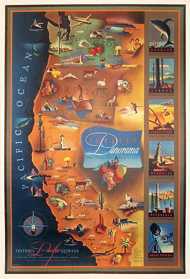 Pacific Panorama (California Map)