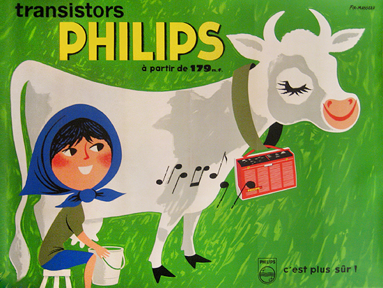 Philips Radio (Milkmaid and Cow)