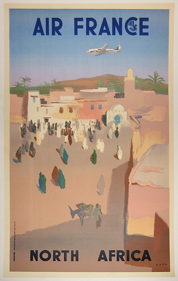 Air France North Africa 1/4 Sheet