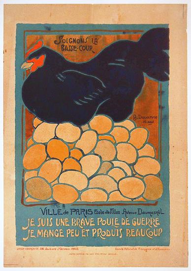 French School Children Series - Brave Poule de Guerre