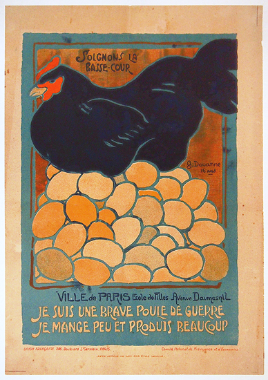 French School Children Series - Brave Poule de Guerre