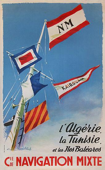 Cie de Navigation Mixte -  l' Algerie, la Tunisie, et les Baleares