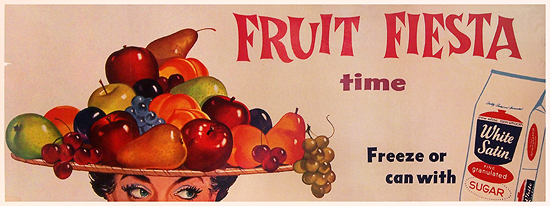 Fruit Fiesta Time White Satin Sugar