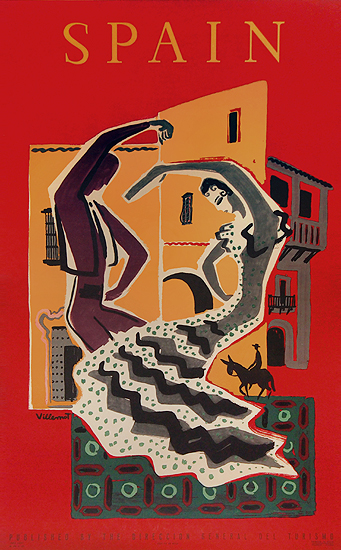 Spain (Villemot/Flamenco Dancers)