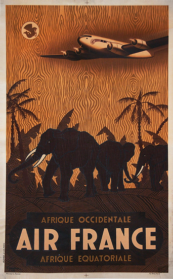 Air France - Afrique Occidentale/Equatoriale (Elephants)