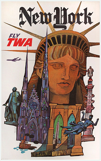 TWA - New York (Klein/Statue of Liberty/Small Version)