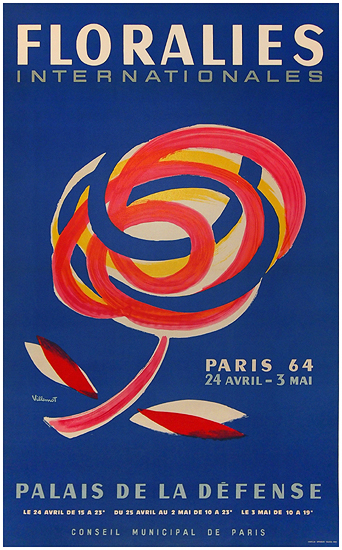 Floralies (Paris 1964/Villemot/Medium Size)