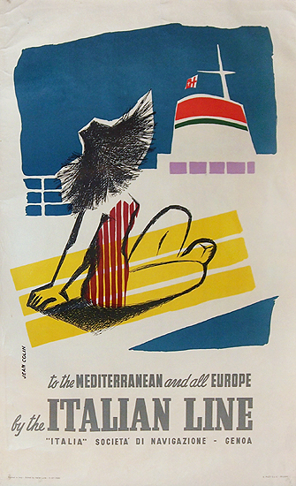 Italian Line to the Mediterranean and all Europe (Sunbather)