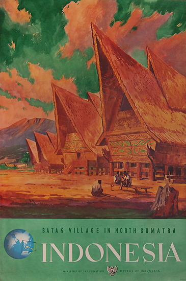 Indonesia Batak Village in North Sumatra