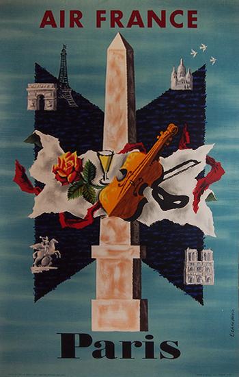 Air France Paris (Violin & Obelisk )