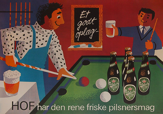 Hof Carlsberg Pilsner (Pool Table)
