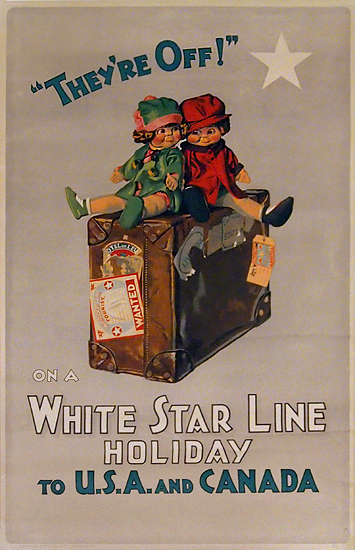 They're Off On a White Star Line Holiday to USA and Canada