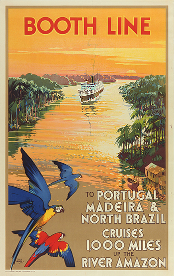Booth Line - Cruises 1000 Miles Up the River Amazon
