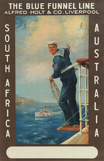 The Blue Funnel Line - South Africa/ Australia
