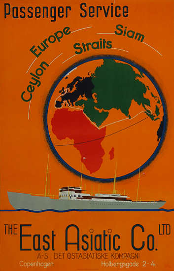 The East Asiatic Co. Passenger Service (Orange Globe)