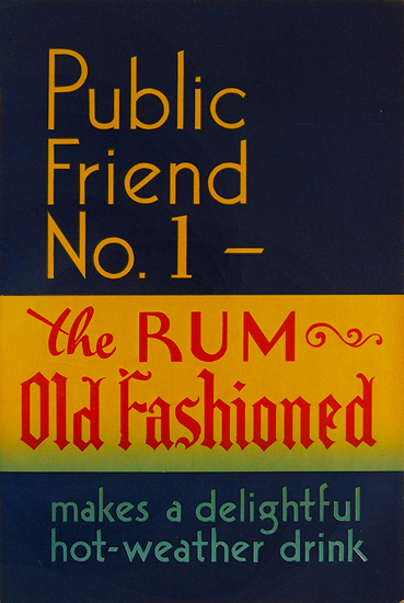 Rum Card - Public Friend No. 1 The Rum Old Fashioned