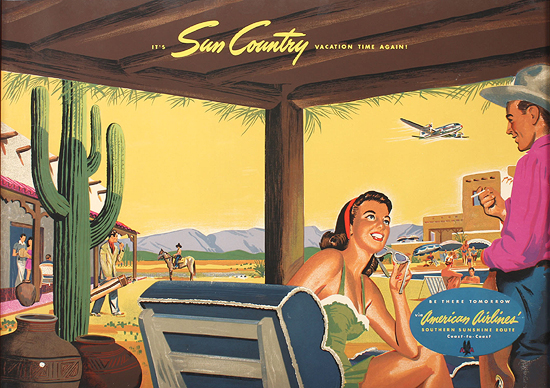 American Airlines Sun Country (Silkscreen)