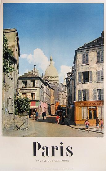 Paris (Une Rue de Montmartre Photographic)