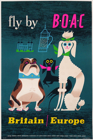 Fly by Boac Britain Europe (Dogs)