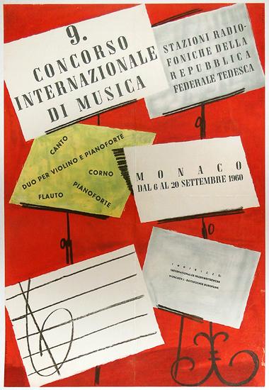 Concorso Internazionale di Musica Monaco 1960